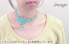 ワイヤー一連ネックレス(チョーカー/2073) / G5 / 1pc