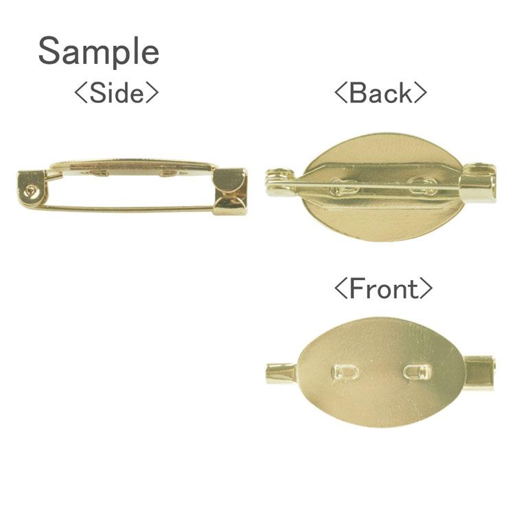 ブローチ(貼付部 約14.5×22mm・2901) / R / 1pc