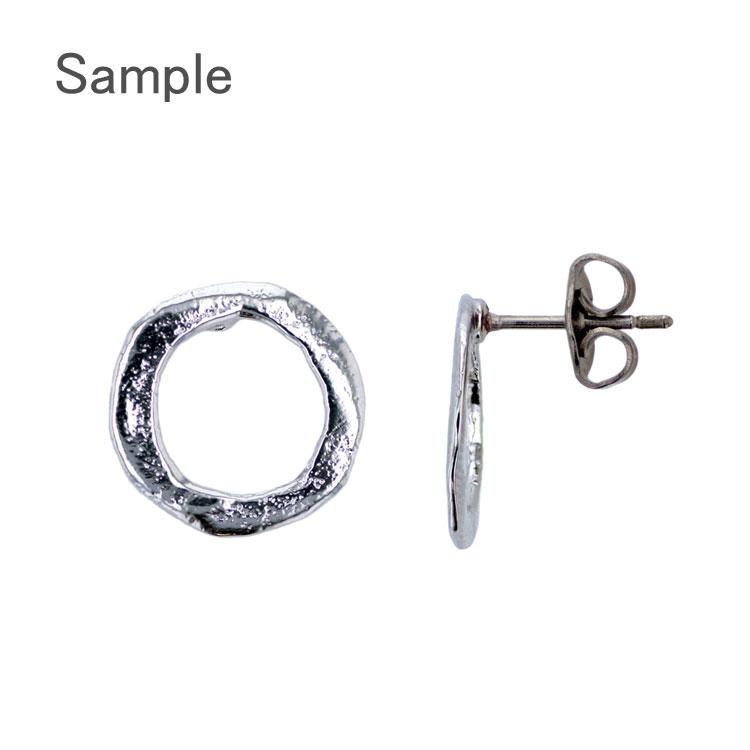 チタンポスト&キャッチピアス(フープ約13mm)/ G5 / 1ペア