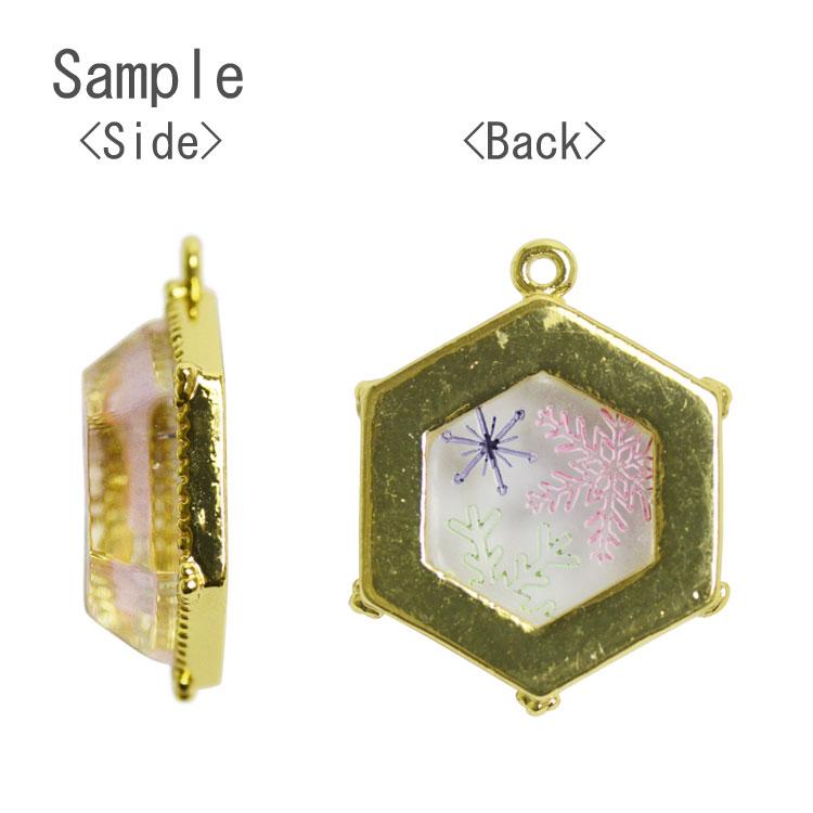チャーム・雪の結晶(アクリル裏彫り・3387)/ MA・G