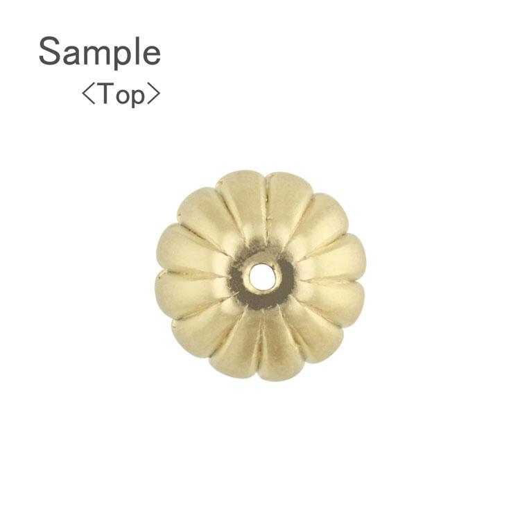 メタルビーズ(CCB樹脂)/ スジ入りボタン(3071) / MG5 / 約7×10mm