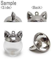 ガラスドーム15mm用キャップ・猫耳(3261) / R