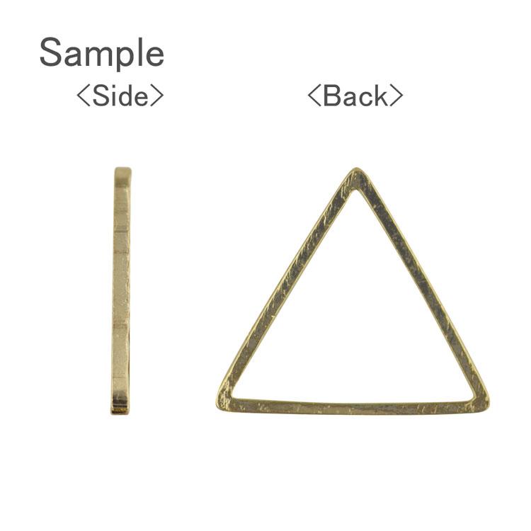 メタルフープ デザイン(三角/1524) / R / 約15×16mm / 40pcs(大袋)