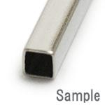 メタルパーツ / 四角パイプ / R / 太さ約2mm×長さ15mm
