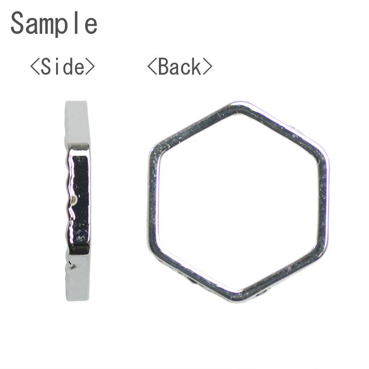 メタルフープ デザイン(六角/1659) / G5 / 約11×10mm