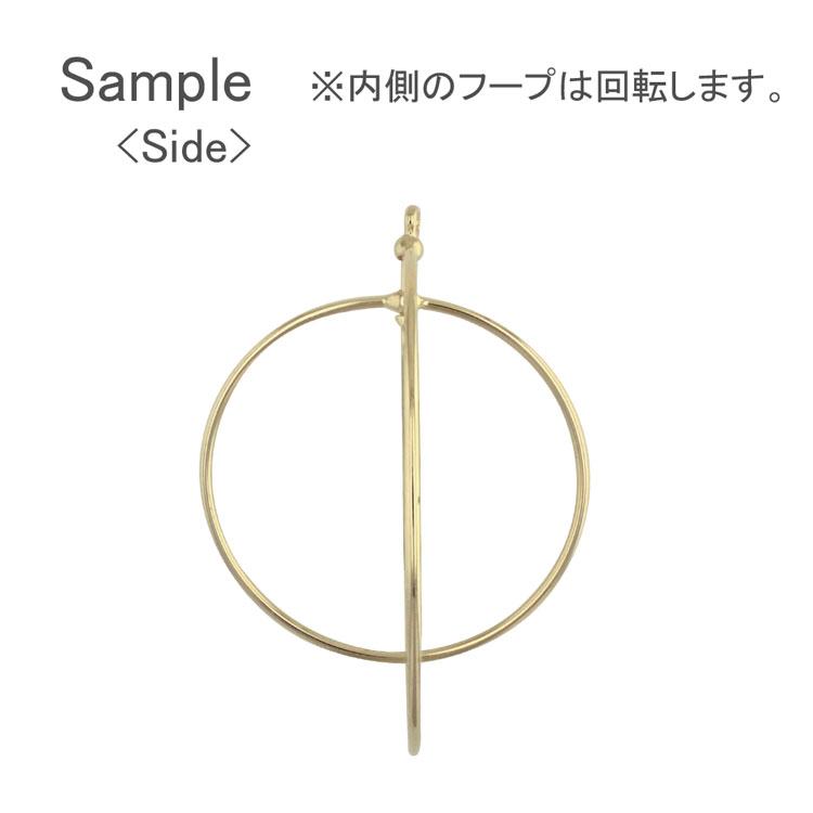 メタルパーツ / カン付デザインフープ(ラウンド・2727) / R