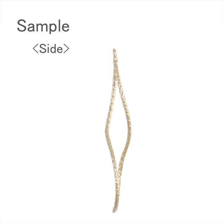 メタルパーツ / カン付きデザインワイヤーフープ ツイスト変形(4129) / R