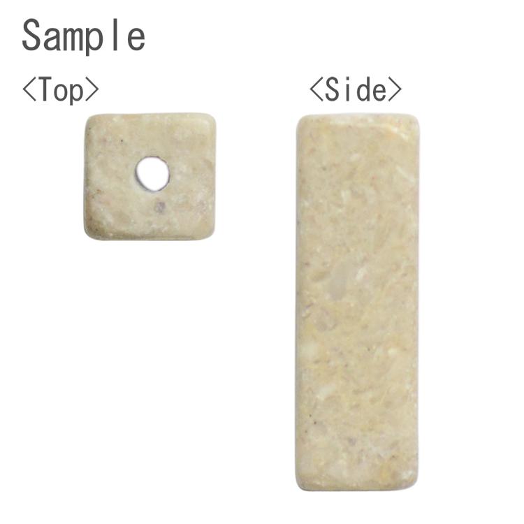 天然石 / 四角柱(縦穴) / ロードナイト / 約13×4mm