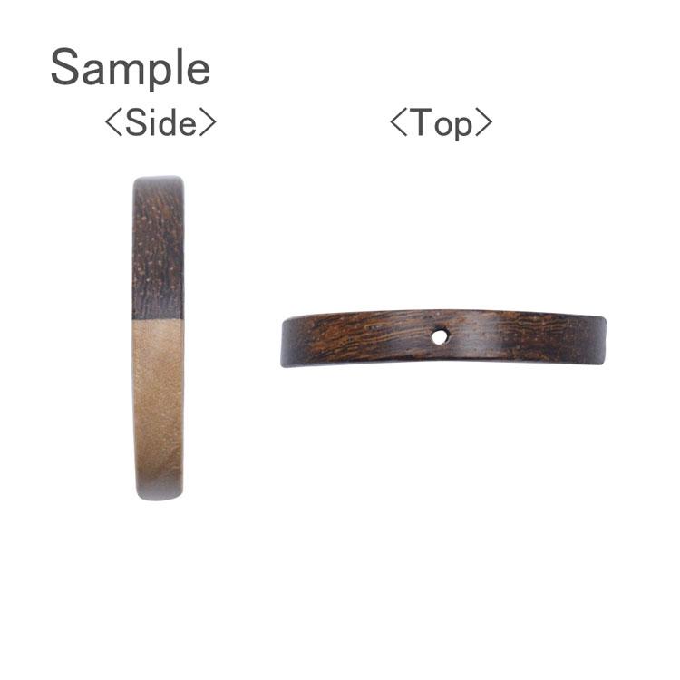 バイカラーウッド / ラウンドフープ(通し穴有・1275)/ 01 / 約30mm