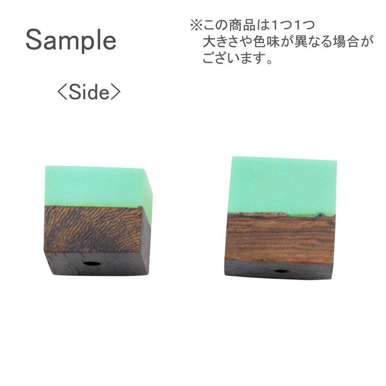 ウッド&アクリルビーズ / 立方体(1279)/ 03 / 約12mm