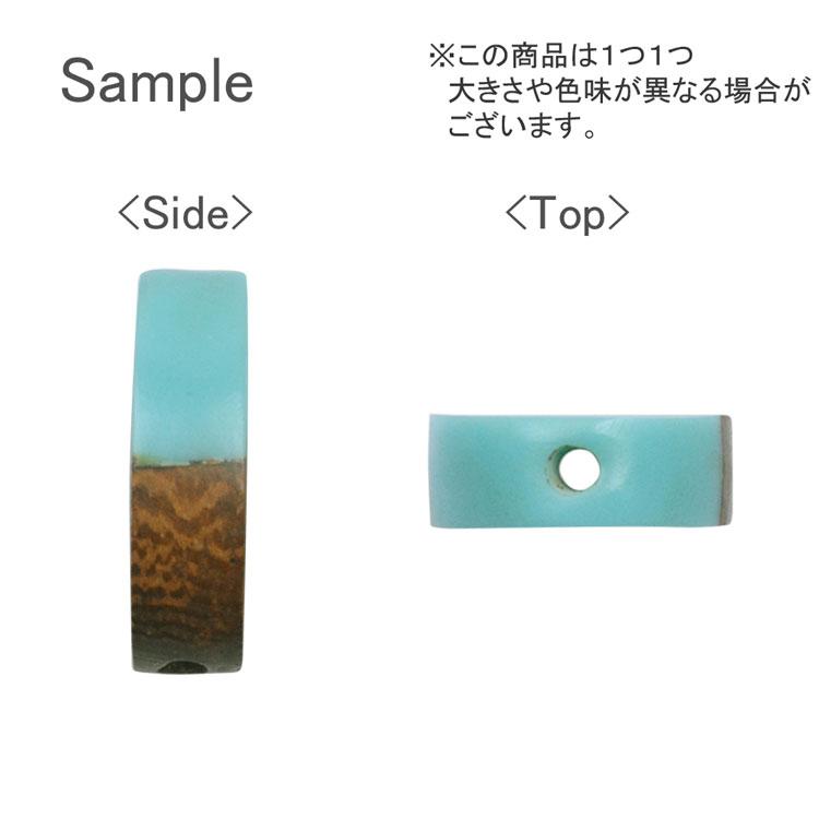 ウッド&アクリルビーズ / 平オーバル(1282)/ 01 / 約20×15mm