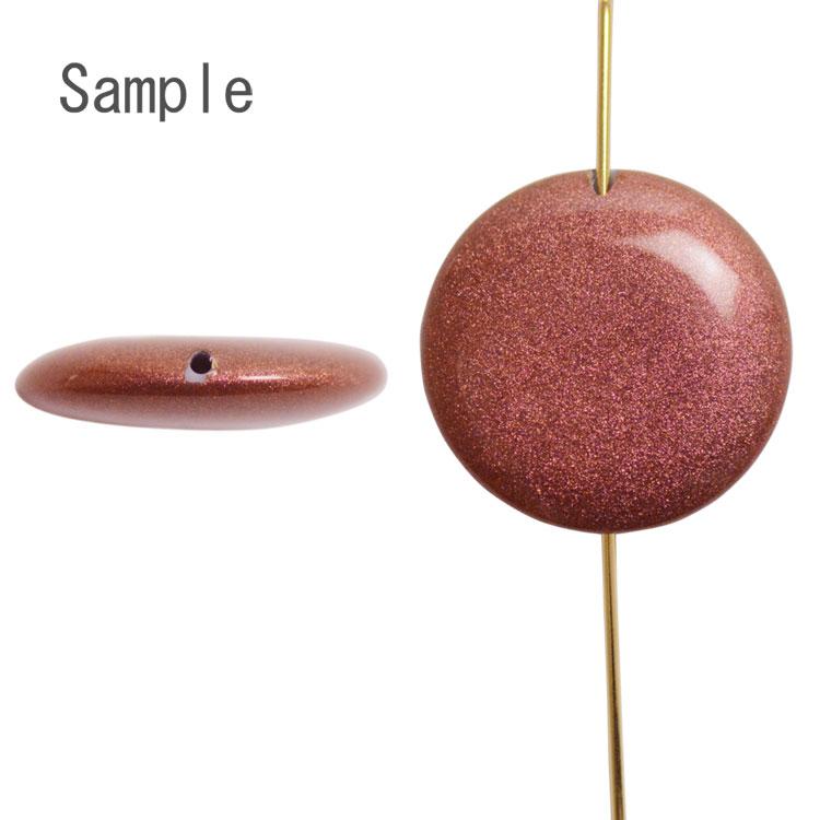 パール / 日本製プラスチックパール(塗装 コイン型) / くちなしいろ / 18mm