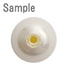 パール / 磨きパール(ラウンド・片穴) / ホワイト / 約4mm