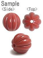 プラスチックパーツ / アクリル スジ入り丸玉(609) / CR / 約12mm