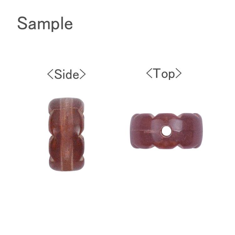 プラスチックパーツ / アクリル アンティーク風ビーズ コイン(771)/ BK / 約10×10×5mm
