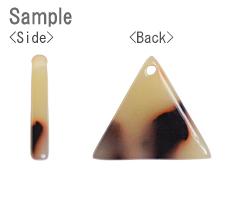プラスチックパーツ / 大理石柄アクリルプレート / トライアングル(575) / BK