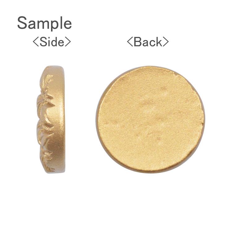 プラスチックパーツ / アクリル アンティークボタン風パーツ(貼付用・643)/ GD / 約18mm