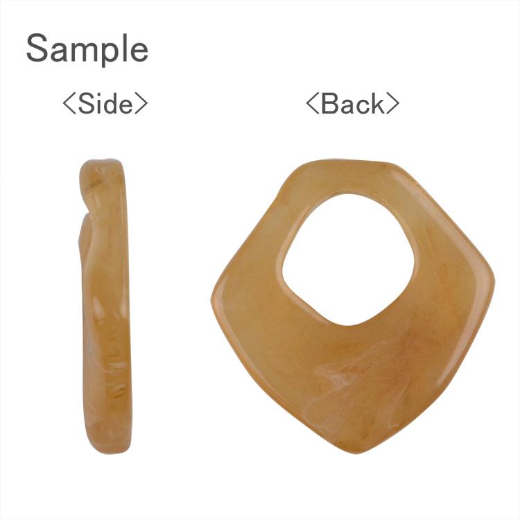 プラスチックパーツ / アクリルフープ(変形・720)/ PU / 約28×28mm