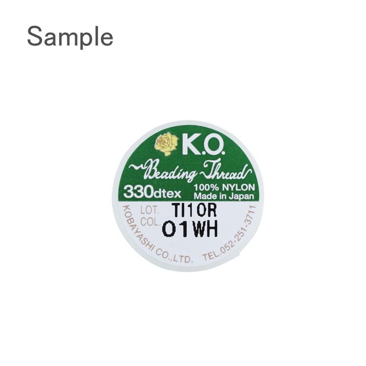 ビーズ糸 / K.O.ビーディングスレッド / ホワイト(WH)