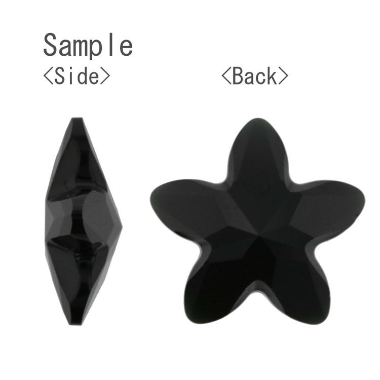 スワロフスキー・クリスタル#4754 ジェット(ミラー無し) 13×13.5mm
