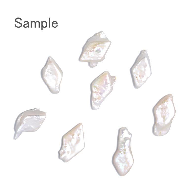 淡水パール / ダイヤ(通し穴・043) / ホワイト(04)