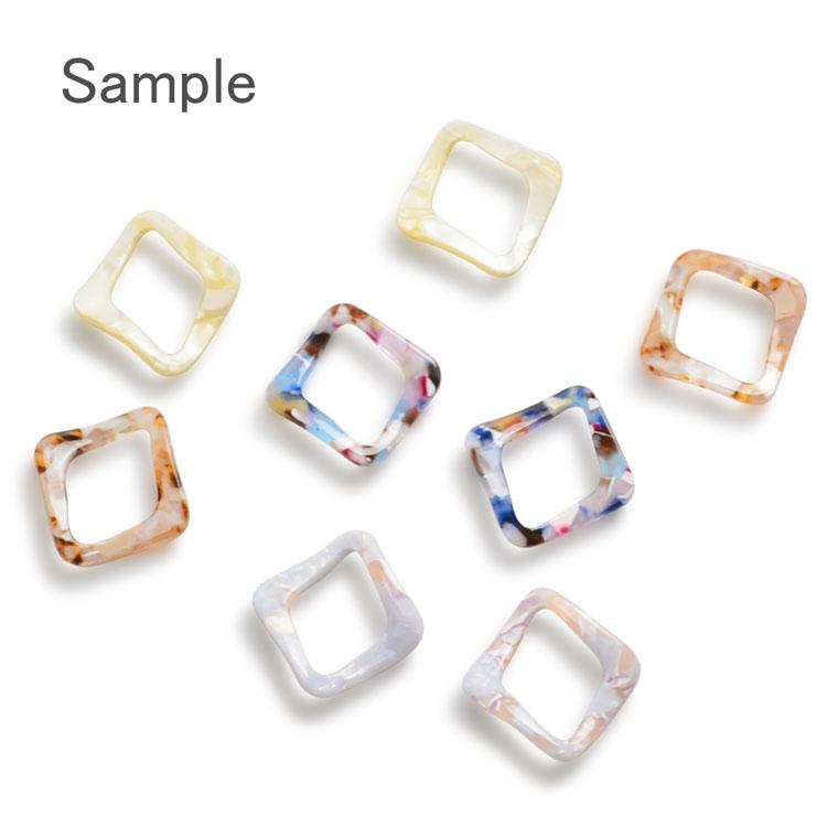 プラスチックパーツ / マーブリングカーブフープ ダイヤ(678) / PU / 約36×36mm