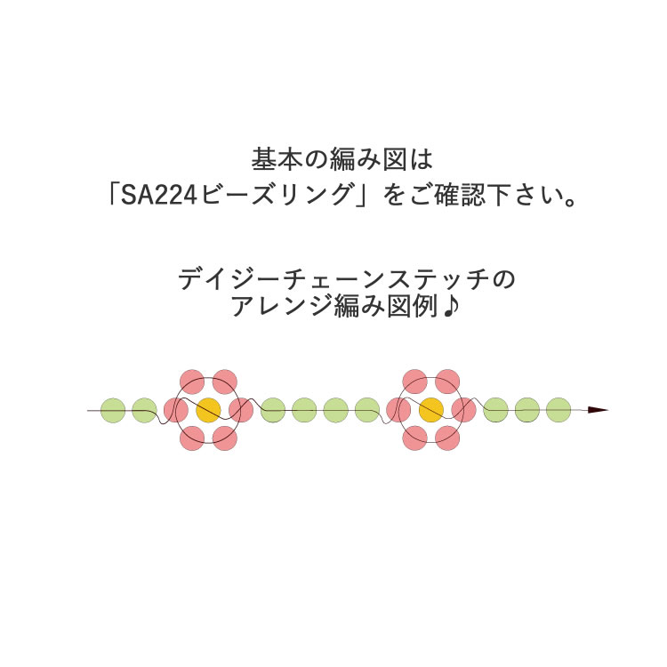 ONLINE材料セット / ビーズリング / cool モノトーン(2021-008)