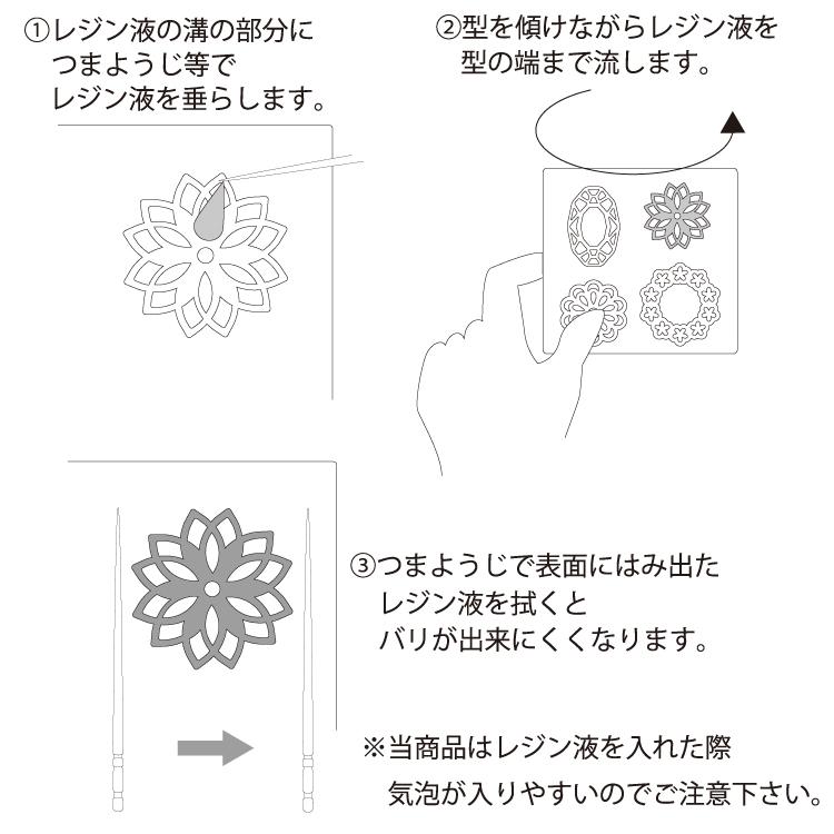 シリコンレジン型 / レース柄(807)