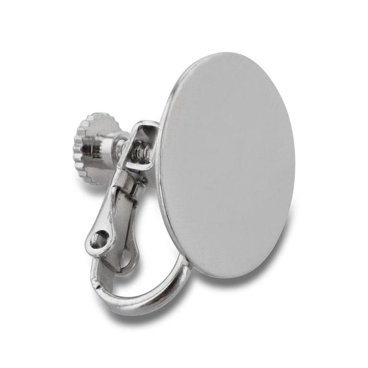 イヤリング(貼付部15mm平丸皿・ネジバネ式/232) / R / 1ペア