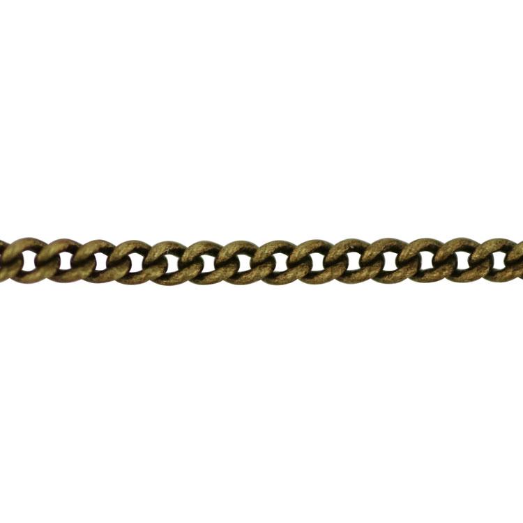 チェーン(004) / 真鍮古美 / 40cm / 留め具付