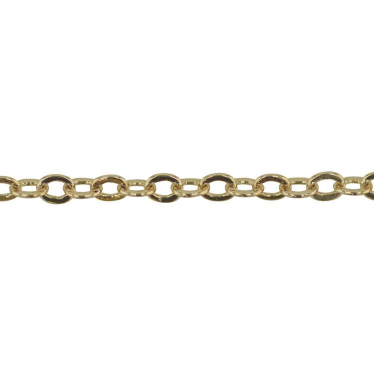 チェーン(040) / ライトゴールド / 100cm