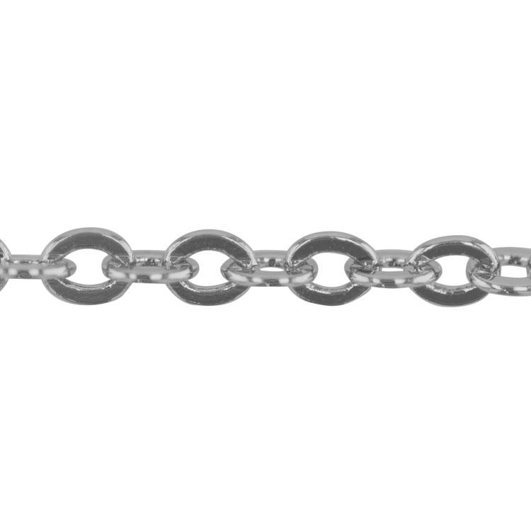 チェーン(276) / ロジウム / 50cm / 留め具付