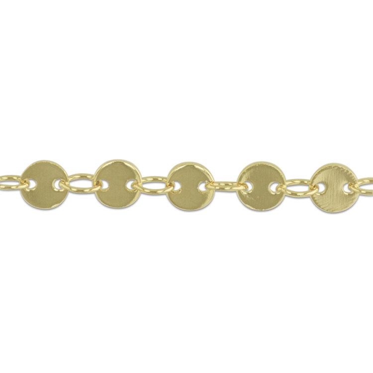 チェーン(ディスク型 4mm・481) / ライトゴールド / 約20cm