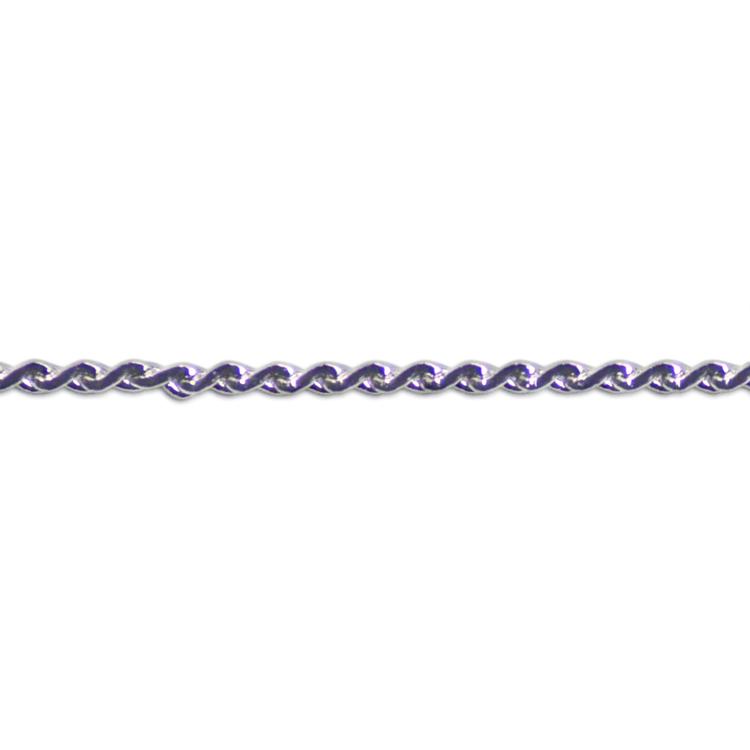チェーン(477) / ロジウム / 100cm