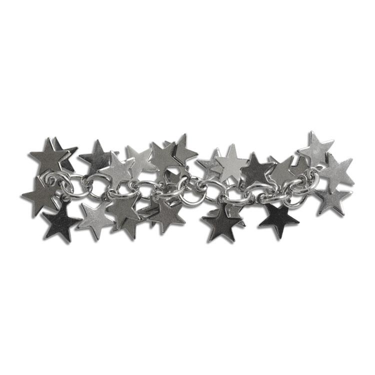 チェーン(星・1717) / ロジウム / 約5cm / 10pcs(大袋)