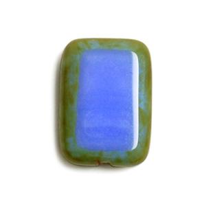 チェコビーズ / スクエア / ブルー / 12×8mm