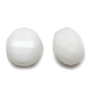 チェコビーズ / 平丸カット(200) / チョークホワイト