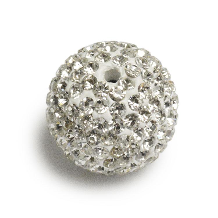 ラインストーンボール (2411) / CR / 約16mm