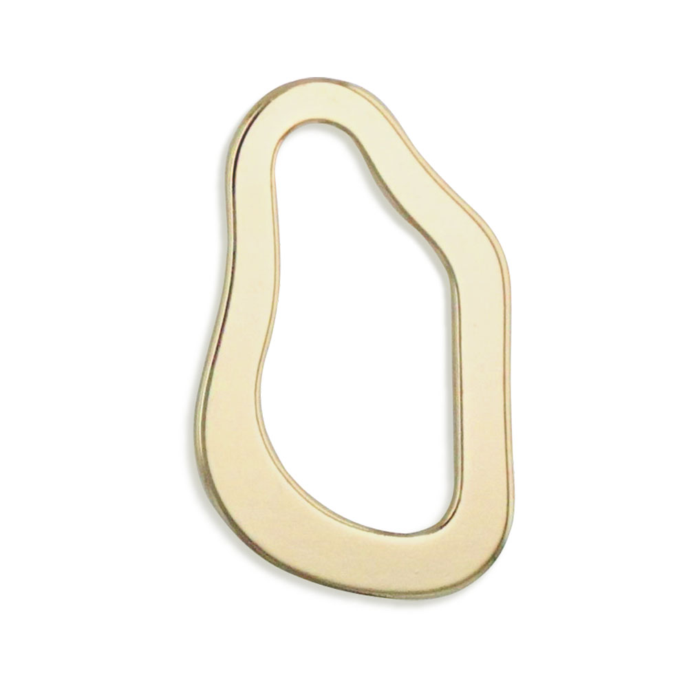 メタルフープ(変形ドロップ/3482) / G5 / 外径約35×21mm