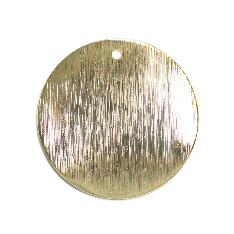 メタルプレート(ラウンド サティーナ・トップホール 1872)/ G5 / 約25mm