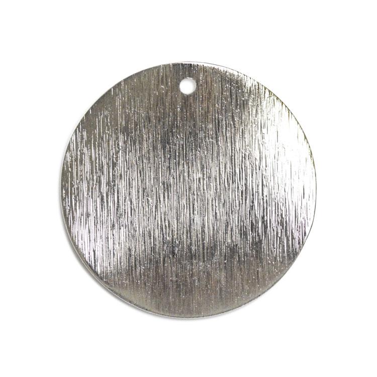 メタルプレート(ラウンド サティーナ・トップホール 1872)/ R / 約25mm