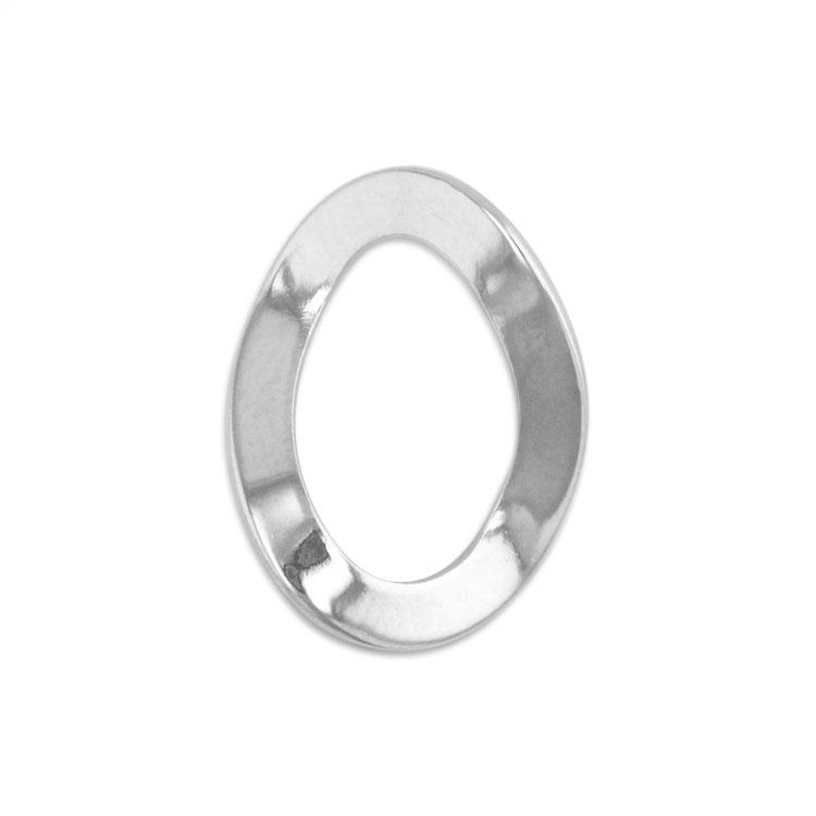 メタルフープ(デザイン 変形オーバル/2690) / R / 外径約16×12mm