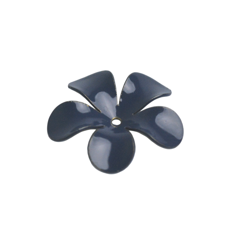 メタルパーツ / カラーフラワー(2803) / BU / 約15mm