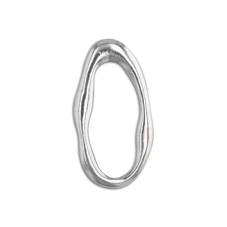 メタルフープ(変形オーバル/2888) / R / 外径約24×13mm