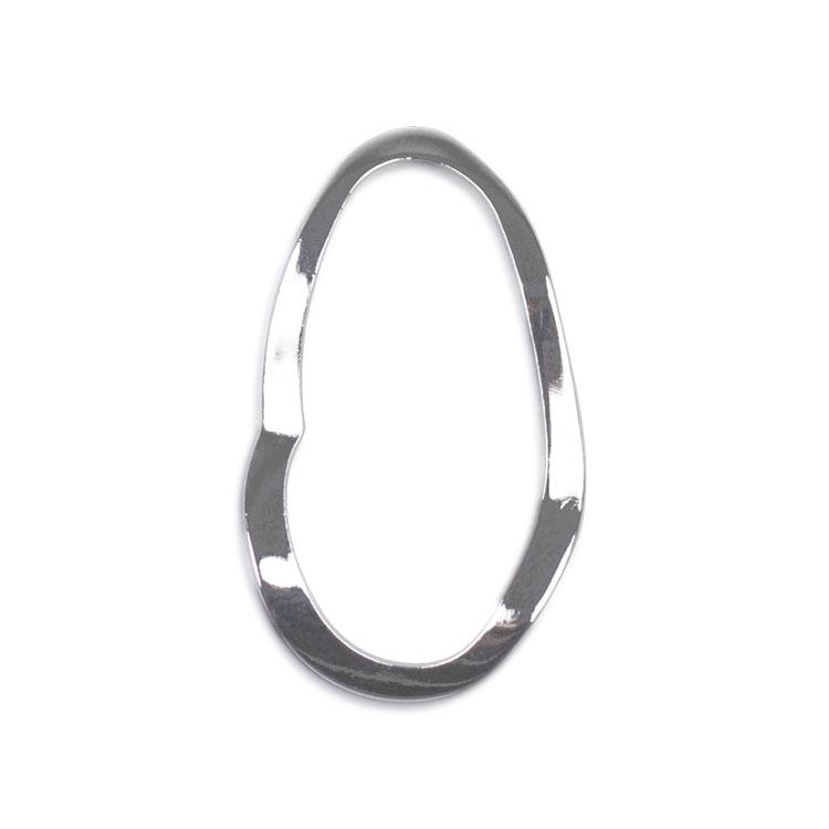 メタルフープ(変形オーバル/2983) / R / 外径約28×16mm