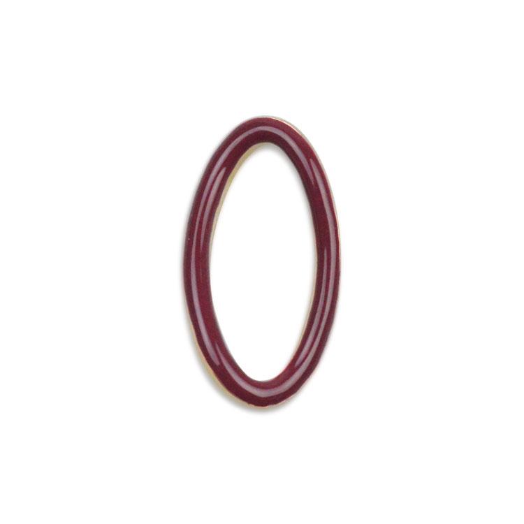 メタルカラーフープ(変形オーバル/3049) / RD・G5 / 外径約17.5×9.5mm