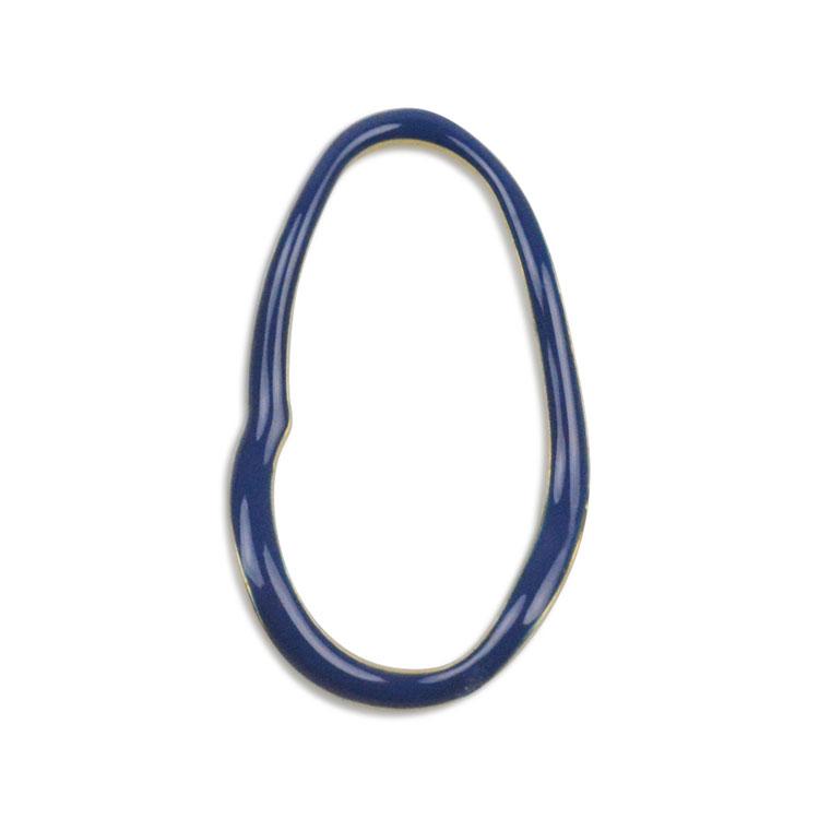 メタルカラーフープ(変形オーバル/3050) / BU・G5 / 外径約28×16mm