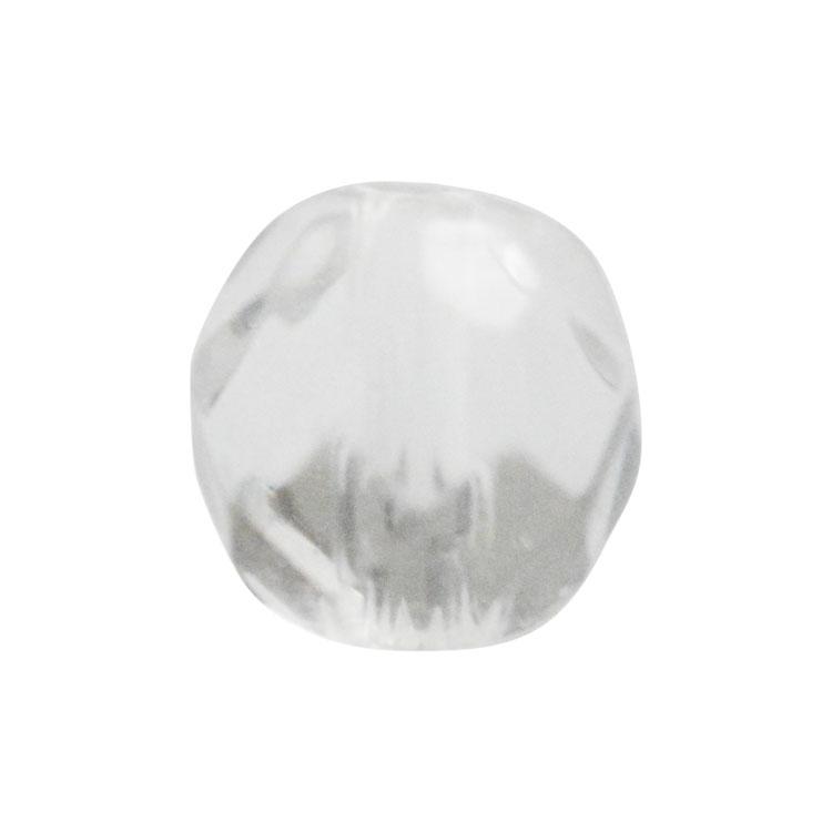天然石 / ラウンド32面カット / クリスタル / 4mm