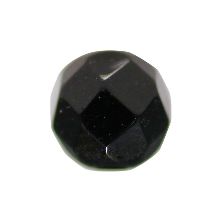 天然石 / ラウンド32面カット / ブラックオニキス(染色) / 4mm