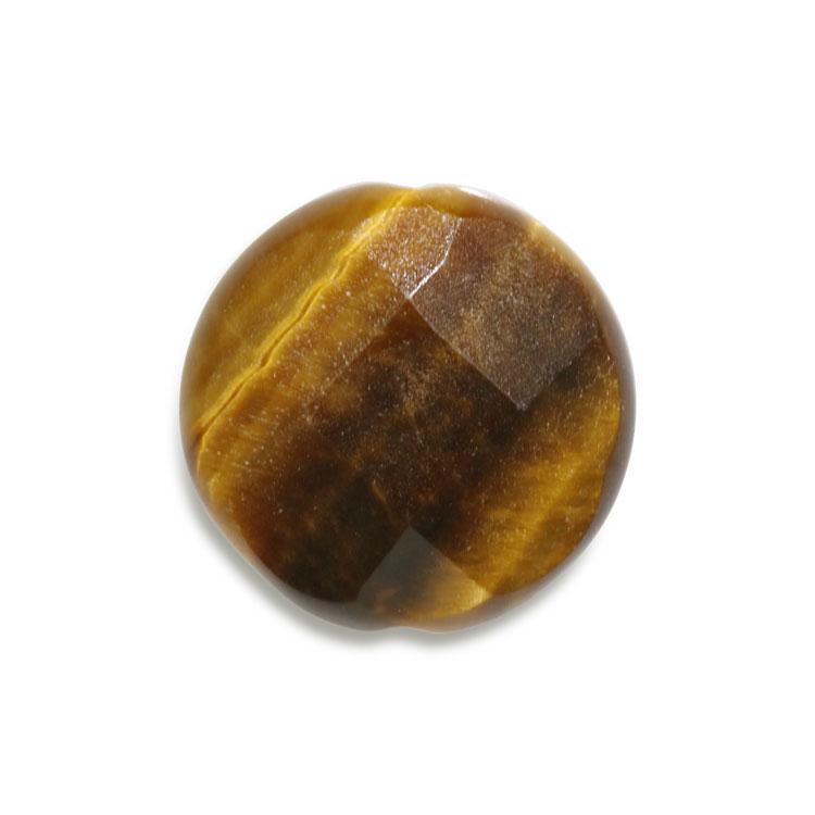天然石 / コインカット / タイガーアイ / 約12mm